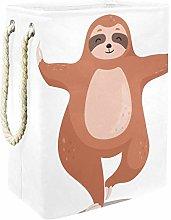 Indimization Sloth Yoga laundry bin Oxford cloth