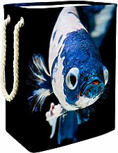 Indimization White Blue Fish laundry bin Oxford