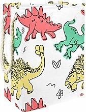 Indimization Yellow Red Dinosaur laundry bin