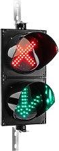 Indoor and outdoor traffic light IP65 black 2 x