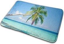 Indoor Area Rug, Tropical Paradise Beach Palm