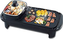 Indoor Barbecue, Electric Grill with Hot Pot, 2 in