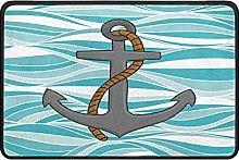 Indoor Doormat Anchor Nautical Front Door Mat Non