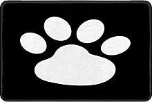 Indoor Doormat Animal Footprint Front Door Mat Non