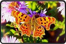 Indoor Doormat Butterfly Flower Front Door Mat Non