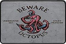 Indoor Doormat Octopus Words Front Door Mat Non