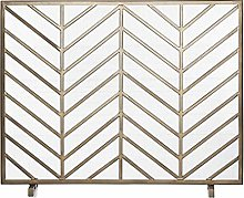 Indoor Fireplace Screen Brushed Gold Finish