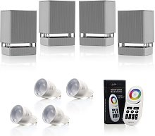 Indoor / Outdoor Up or Down Wall Light - Silver -