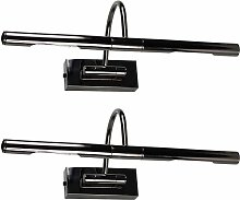 Indoor Picture Wall Lights Pair Of Black Chrome