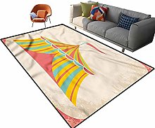 Indoor Room Circus Area Rugs,3'x 5',Circus