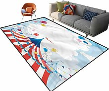 Indoor Room Circus Area Rugs,5'x 7',Circus