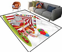 Indoor Room Circus Area Rugs,6'x 9',Circus
