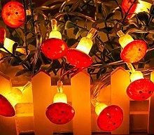 Indoor String Lights, 2M 10LED Mushroom String