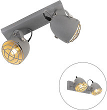 Industrial adjustable spot gray concrete 2-light -