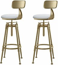 Industrial Bar Stool,Metal and Leather cushion