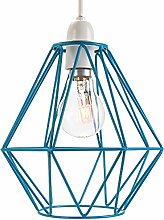 Industrial Basket Cage Designed Matt Teal Ceiling