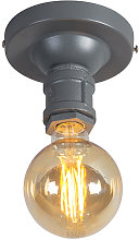 Industrial ceiling lamp dark gray - Plumber 1
