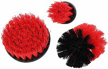 Industrial Cleaning Tool Drill Scrubber Brush Red
