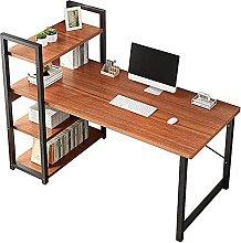 Industrial Computer Desk with Storage Shelves 47