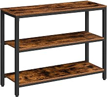 Industrial Console Table, Slim Hallway Table,