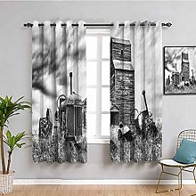 Industrial Decor Heat Insulation Curtain Old 60S