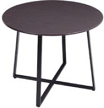 Industrial Dining Table Wooden Top Metal Frame