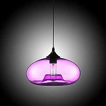 Industrial Edison Retro Multicolored Glass Oval
