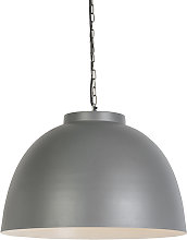 Industrial hanging lamp 60cm gray with white