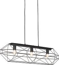Industrial hanging lamp black 3-lights - Carcass