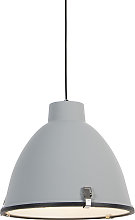 Industrial hanging lamp gray 38 cm dimmable -