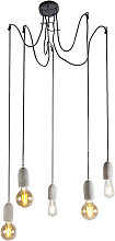 Industrial hanging lamp gray concrete - Cava 5