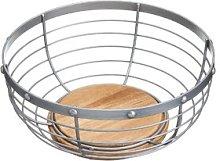 Industrial Kitchen Wire Fruit Bowl KitchenCraft