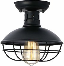 Industrial Metal Cage Ceiling Light, E27 Rustic