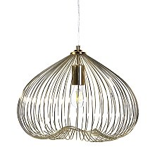 Industrial Modern Pendant Lamp Cage Metal Shade