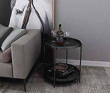 Industrial Nordic Metal 2Tier Sofa Side Table