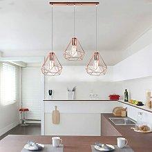 Industrial Pendant Light Rose Gold Modern Ceiling