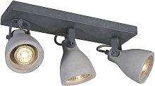 Industrial spot gray concrete 3-light - Creto