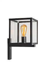 Industrial square exterior wall lamp black IP23 -