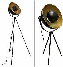 Industrial Style Black Tripod Floor & Table Lamp