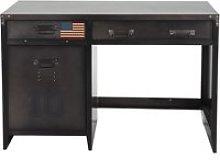 Industrial-Style Metal 1-Door 2-Drawer Desk