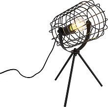 Industrial table lamp tripod black 40 cm - Bliss