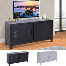 Industrial TV Cabinet Stand Media Center Steel