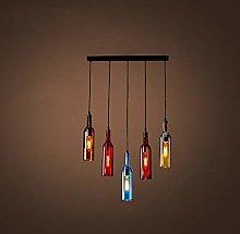 Industrial Vintage Pendant Light Colored Glass