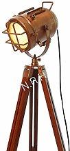 Industrial Vintage Spotlight Floor Lamp Copper
