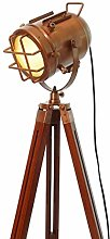 Industrial Vintage Spotlight Floor Lamp Copper