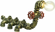 Industrial Vintage Water Pipe Table Lamp Copper