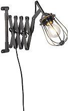 Industrial wall lamp black adjustable - Scissors