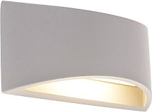 Industrial wall lamp gray concrete - Creil