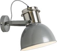 Industrial wall lamp gray - Industrial