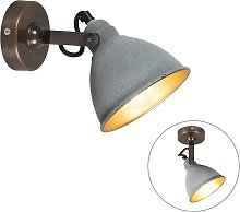 Industrial wall lamp gray with bronze - Liko